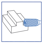 Metallfil Cylindrisk Ändskär